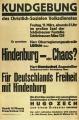 Hindenburg nebo chaos?