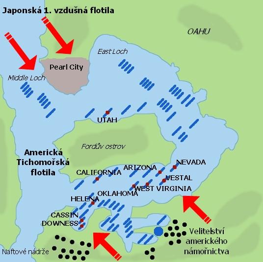 Pearl Harbor poútoku japonských letadel